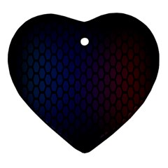 Hexagon Colorful Pattern Gradient Honeycombs Heart Ornament (two Sides)