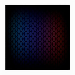 Hexagon Colorful Pattern Gradient Honeycombs Medium Glasses Cloth (2 Side) by Simbadda