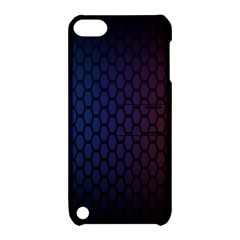Hexagon Colorful Pattern Gradient Honeycombs Apple Ipod Touch 5 Hardshell Case With Stand by Simbadda