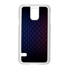 Hexagon Colorful Pattern Gradient Honeycombs Samsung Galaxy S5 Case (white) by Simbadda