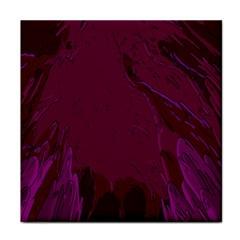 Abstract Purple Pattern Tile Coasters by Simbadda