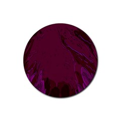 Abstract Purple Pattern Rubber Coaster (round)  by Simbadda