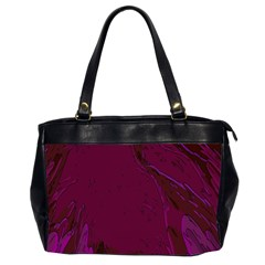 Abstract Purple Pattern Office Handbags (2 Sides)  by Simbadda