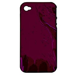 Abstract Purple Pattern Apple Iphone 4/4s Hardshell Case (pc+silicone) by Simbadda