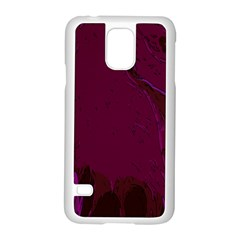 Abstract Purple Pattern Samsung Galaxy S5 Case (white) by Simbadda