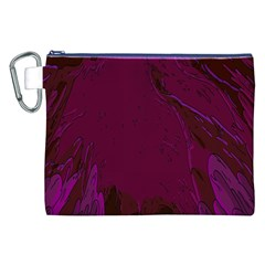 Abstract Purple Pattern Canvas Cosmetic Bag (xxl) by Simbadda