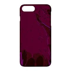 Abstract Purple Pattern Apple Iphone 7 Plus Hardshell Case by Simbadda