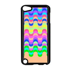 Dna Early Childhood Wave Chevron Woves Rainbow Apple Ipod Touch 5 Case (black) by Alisyart