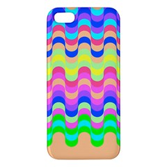 Dna Early Childhood Wave Chevron Woves Rainbow Iphone 5s/ Se Premium Hardshell Case by Alisyart