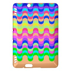 Dna Early Childhood Wave Chevron Woves Rainbow Kindle Fire Hdx Hardshell Case by Alisyart