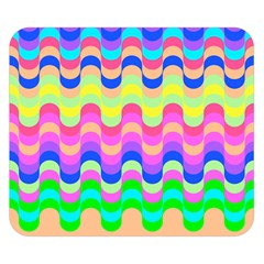 Dna Early Childhood Wave Chevron Woves Rainbow Double Sided Flano Blanket (small)  by Alisyart
