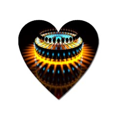 Abstract Led Lights Heart Magnet by Simbadda