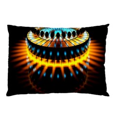 Abstract Led Lights Pillow Case by Simbadda
