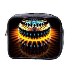 Abstract Led Lights Mini Toiletries Bag 2 Side by Simbadda