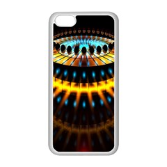 Abstract Led Lights Apple Iphone 5c Seamless Case (white) by Simbadda