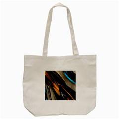Abstract 3d Tote Bag (cream) by Simbadda