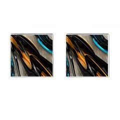Abstract 3d Cufflinks (square) by Simbadda