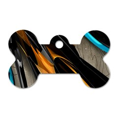 Abstract 3d Dog Tag Bone (two Sides)
