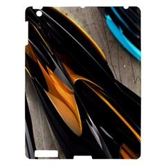 Abstract 3d Apple Ipad 3/4 Hardshell Case by Simbadda