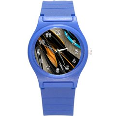 Abstract 3d Round Plastic Sport Watch (s) by Simbadda