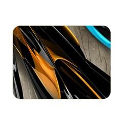 Abstract 3d Double Sided Flano Blanket (mini)  by Simbadda