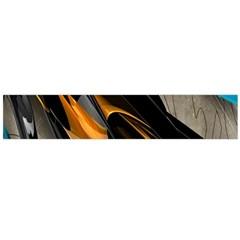 Abstract 3d Flano Scarf (large) by Simbadda