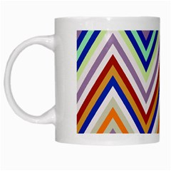 Chevron Wave Color Rainbow Triangle Waves Grey White Mugs by Alisyart