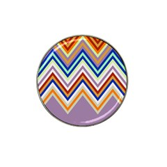 Chevron Wave Color Rainbow Triangle Waves Grey Hat Clip Ball Marker (4 Pack) by Alisyart