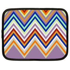 Chevron Wave Color Rainbow Triangle Waves Grey Netbook Case (xl)  by Alisyart