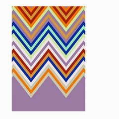 Chevron Wave Color Rainbow Triangle Waves Grey Large Garden Flag (two Sides) by Alisyart