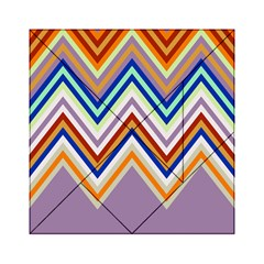 Chevron Wave Color Rainbow Triangle Waves Grey Acrylic Tangram Puzzle (6  X 6 ) by Alisyart