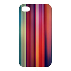Texture Lines Vertical Lines Apple Iphone 4/4s Premium Hardshell Case by Simbadda
