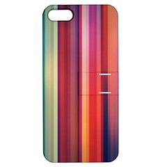 Texture Lines Vertical Lines Apple Iphone 5 Hardshell Case With Stand by Simbadda