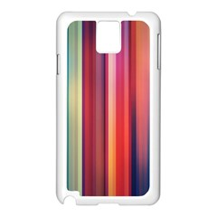 Texture Lines Vertical Lines Samsung Galaxy Note 3 N9005 Case (white) by Simbadda