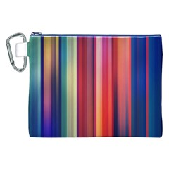 Texture Lines Vertical Lines Canvas Cosmetic Bag (xxl) by Simbadda