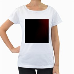Abstract Dark Simple Red Women s Loose-Fit T-Shirt (White) by Simbadda