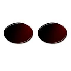 Abstract Dark Simple Red Cufflinks (oval) by Simbadda