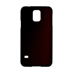 Abstract Dark Simple Red Samsung Galaxy S5 Hardshell Case  by Simbadda
