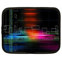 Abstract Binary Netbook Case (xl)  by Simbadda