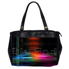 Abstract Binary Office Handbags (2 Sides)  by Simbadda