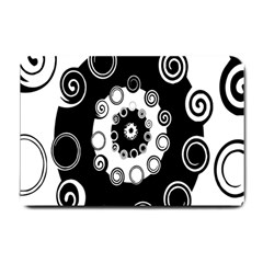 Fluctuation Hole Black White Circle Small Doormat  by Alisyart