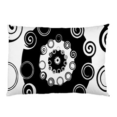 Fluctuation Hole Black White Circle Pillow Case by Alisyart