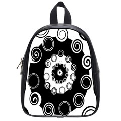 Fluctuation Hole Black White Circle School Bags (small)  by Alisyart
