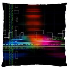 Abstract Binary Large Flano Cushion Case (two Sides) by Simbadda