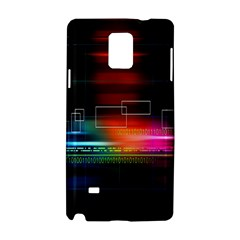 Abstract Binary Samsung Galaxy Note 4 Hardshell Case by Simbadda