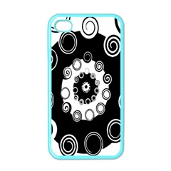Fluctuation Hole Black White Circle Apple Iphone 4 Case (color) by Alisyart