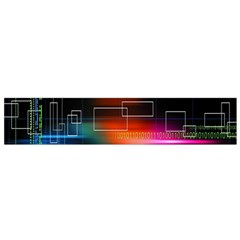 Abstract Binary Flano Scarf (small) by Simbadda