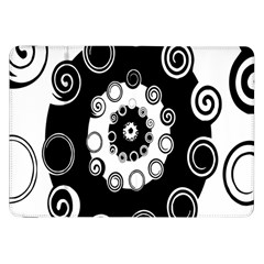Fluctuation Hole Black White Circle Samsung Galaxy Tab 8 9  P7300 Flip Case by Alisyart