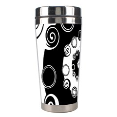 Fluctuation Hole Black White Circle Stainless Steel Travel Tumblers by Alisyart
