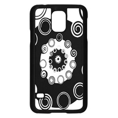 Fluctuation Hole Black White Circle Samsung Galaxy S5 Case (black) by Alisyart